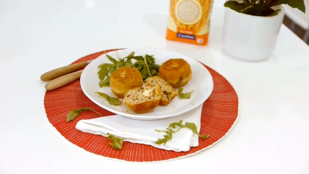 Imagem da receita de Arancini de mozzarella e pesto