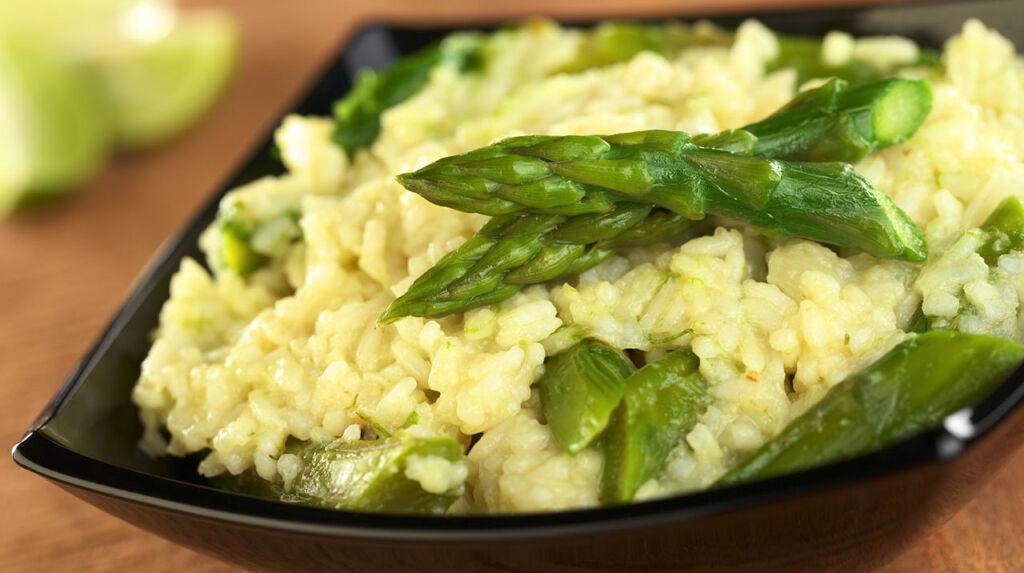 Imagem da receita de risotto com espargos