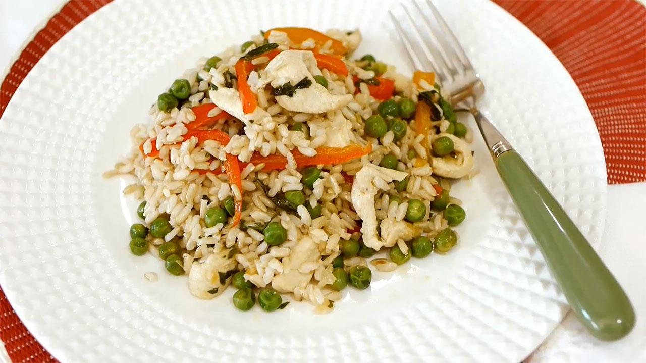 Imagem da receita de arroz integral de frango