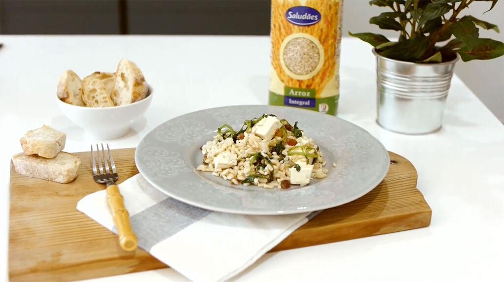 Imagem da receita de arroz integral com tofu